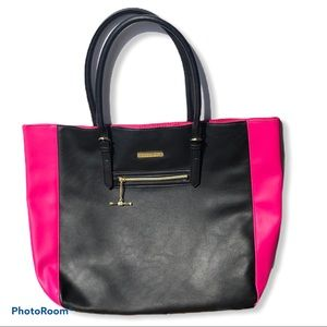 JUICY COUTURE pink black tote bag